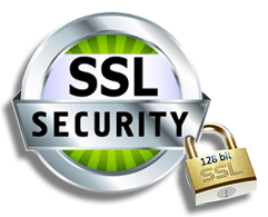 128-Bit SSL Encryption - Secure Transactions